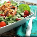 Grilled Shrimp Salad with Cilantro Verde Dressing