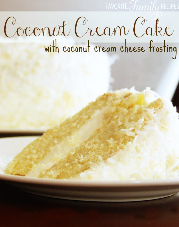 This Coconut Cream Cake is a coconut lovers dream! It is a coconut ...
