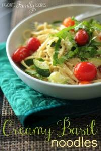 Creamy Basil Noodles