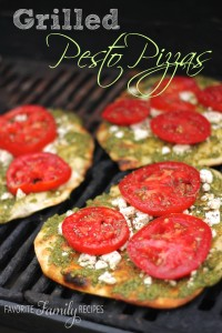 Grilled Pesto Pizzas