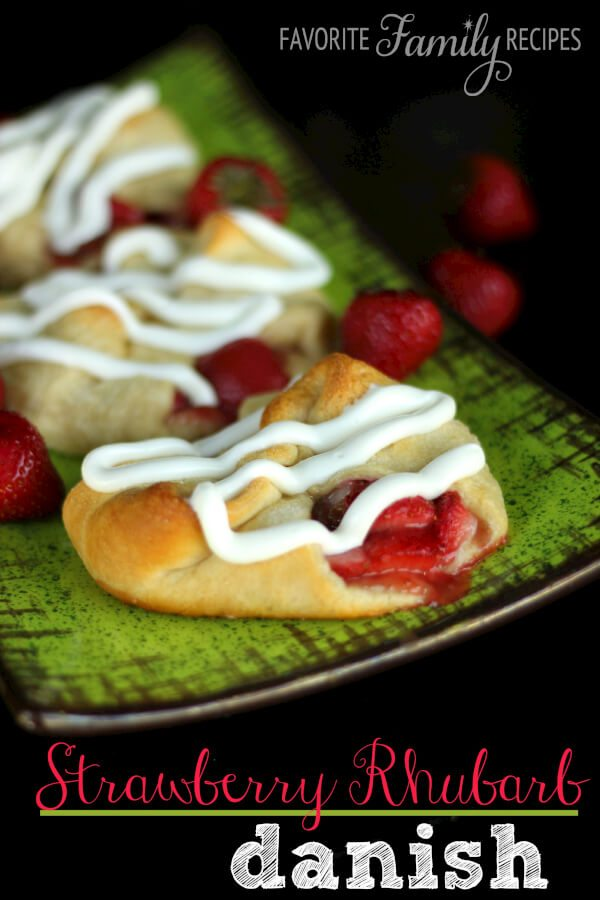 Strawberry Rhubarb Danish
