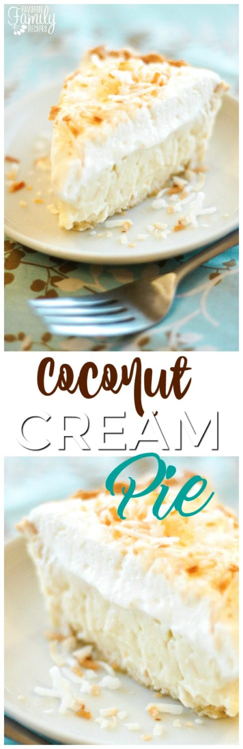 Coconut Cream Pie is a dreamy island dessert with a flaky crust, a coconut filling that is made from scratch, and toasted coconut sprinkles. #coconutcreampie #coconutpie