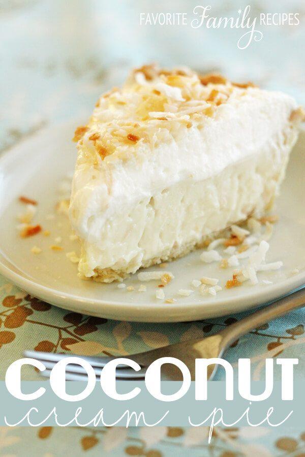 Traditional Coconut Cream Pie -Favorite Family Recipes