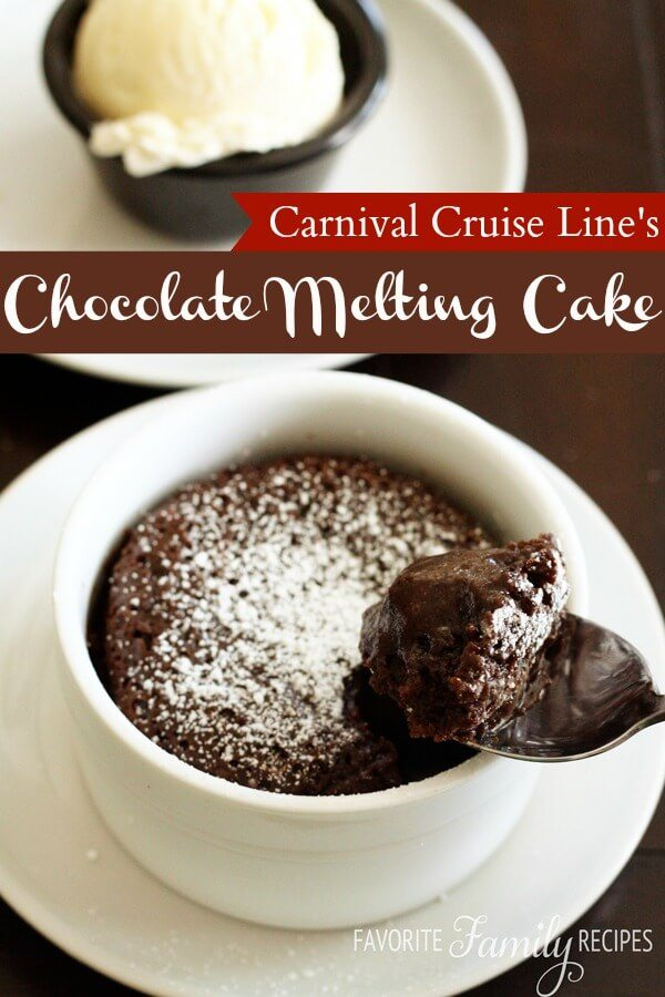 Carnival Cruise Line's Warm Chocolate Melting Cake Recipe
