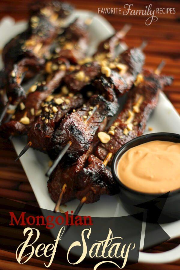 Mongolian Beef Satay -Favorite Family Recipes