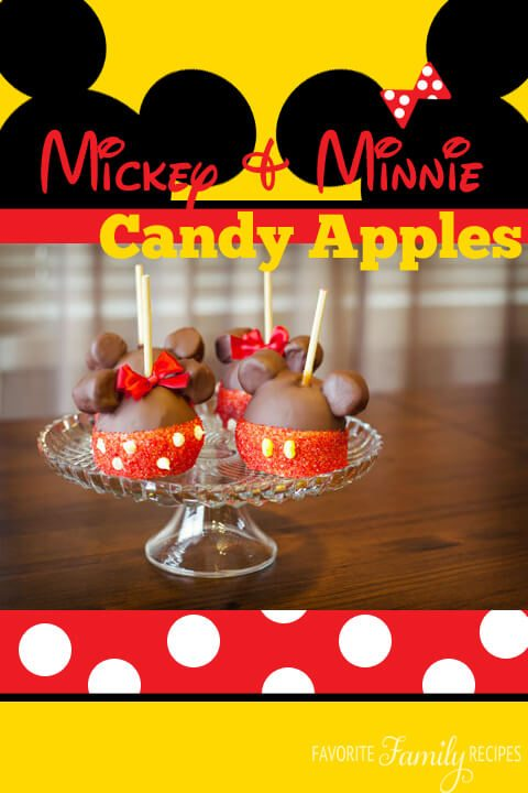 Mickey & Minnie Candy Apples from GetAwayToday.com
