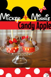 Mickey & Minnie Candy Apples