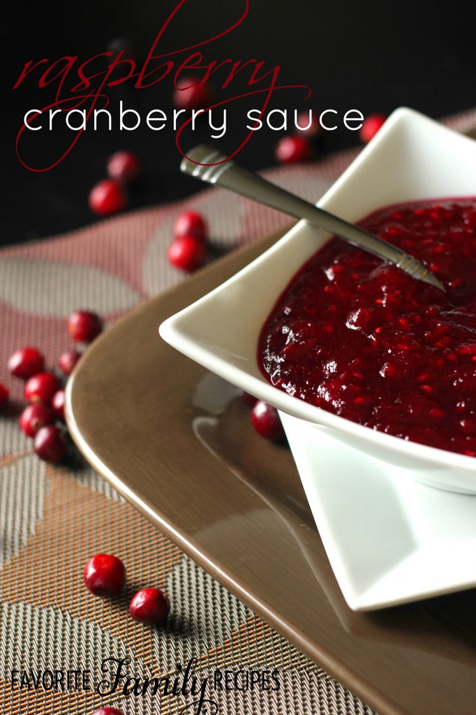Raspberry Cranberry Sauce from favfamilyrecipes.com