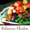 Balsamic Chicken with a chilled Bruschetta Topping