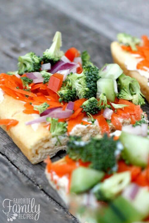 Easy Low Fat Veggie Squares
