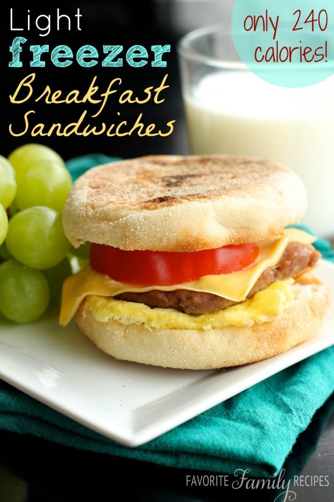 Light Freezer Breakfast Sandwiches from favfamilyrecipes.com