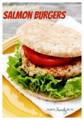 Light and Tasty Salmon Burgers