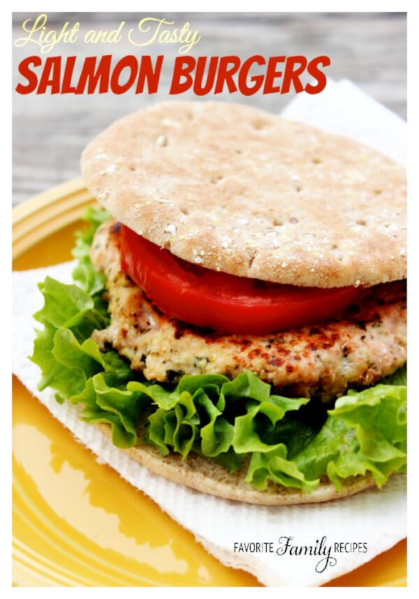 Light and Tasty Salmon Burgers