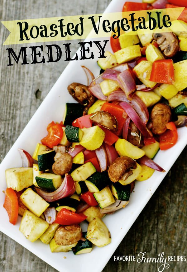 Roasted vegetable medley favorite family recipes for What side dishes go with fish