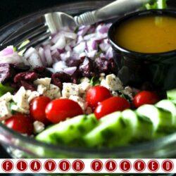 Side Salad with Homemade Greek Dressing