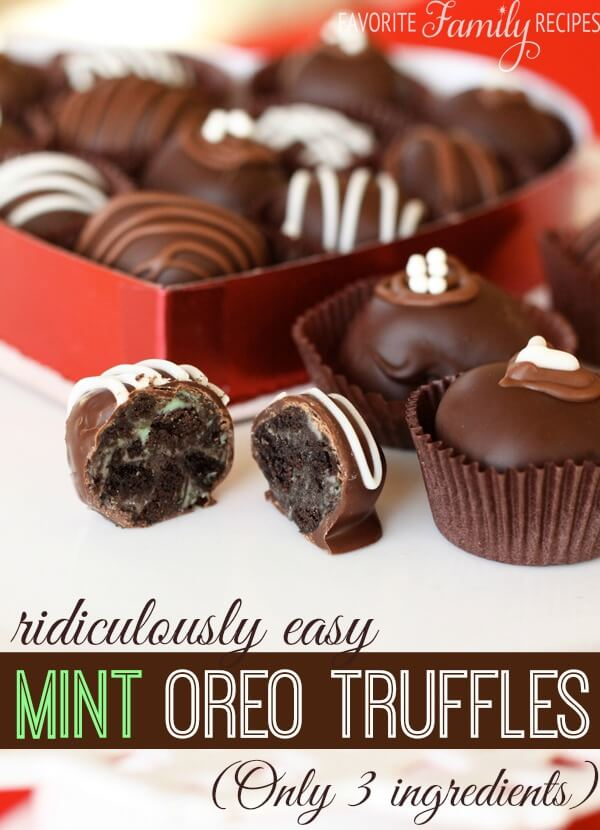Ridiculously Easy Mint Oreo Truffles -Favorite Family Recipes