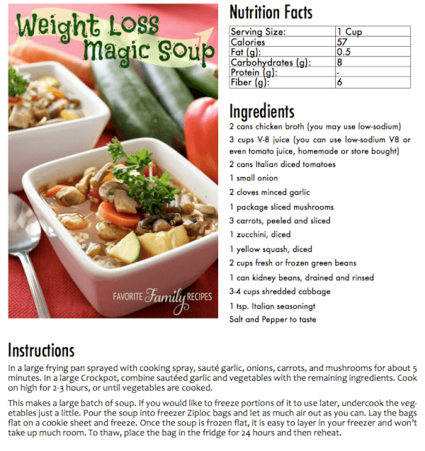 Weight Loss Soup Book Sample Page