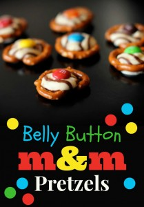 Belly Button M&M Pretzels