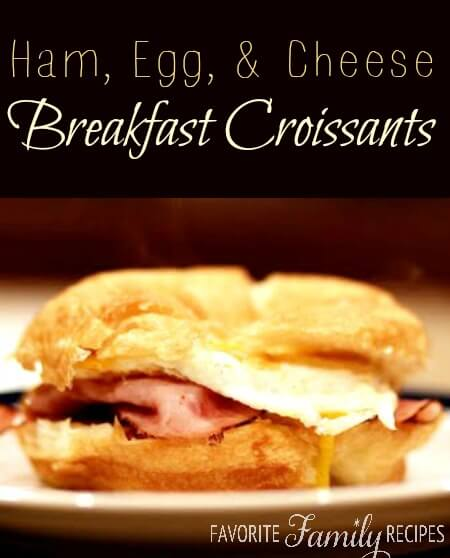 Ham, Egg, and Cheese Croissant