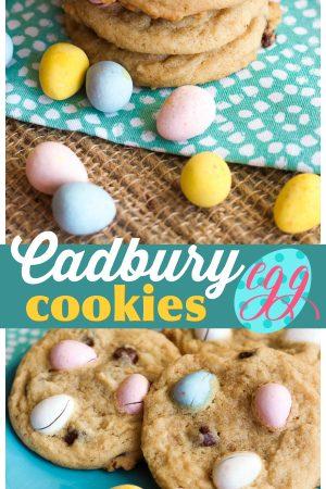 Cadbury Egg Cookies Pin