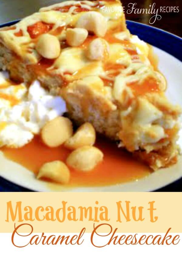 White Chocolate Caramel Maca-Nut Cheesecake | Favorite Family Recipes