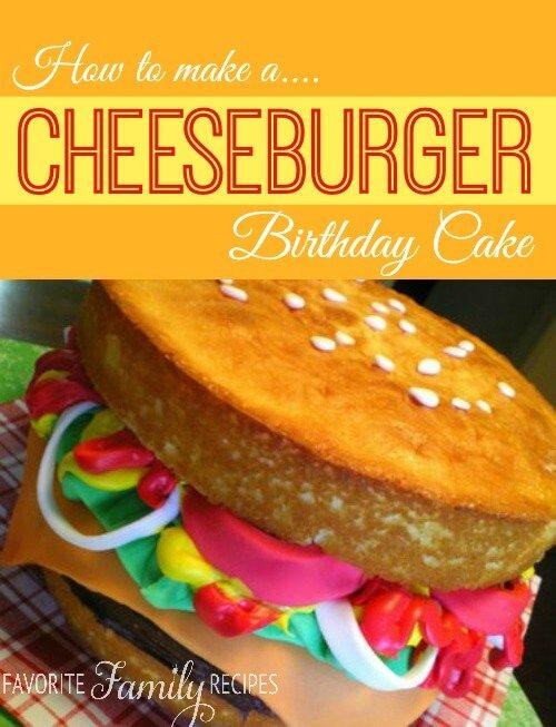 Hamburger Birthday Cake Favorite Family Recipes