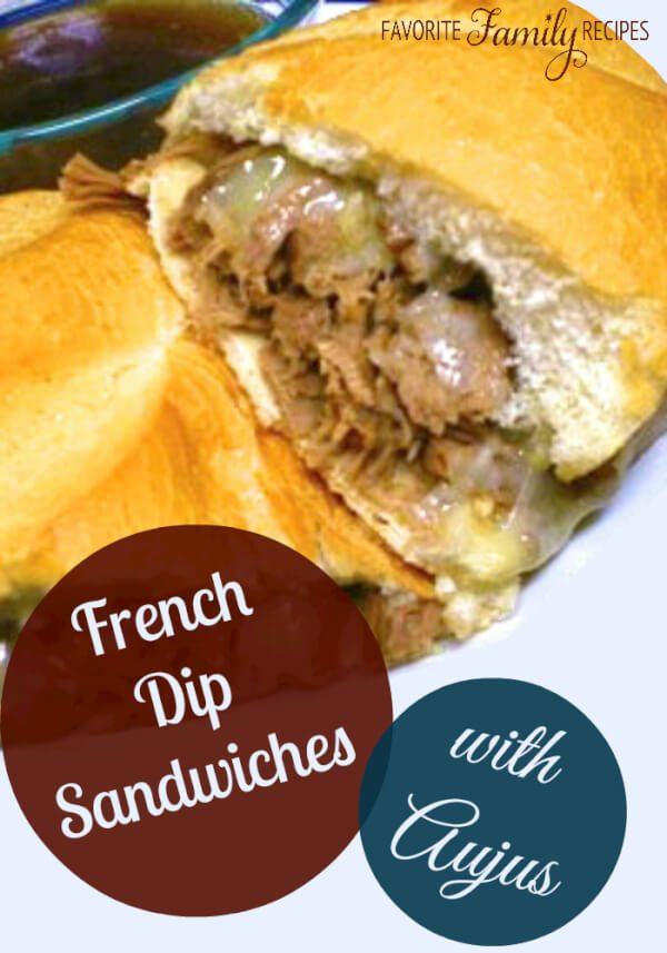 This is hands-down the most hands-off and delicious recipe for French dip sandwiches that you will ever get your hands on! #frenchdip #sandwich