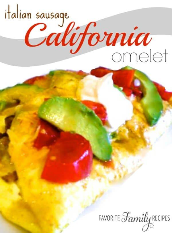 Italian Sausage California Omelet