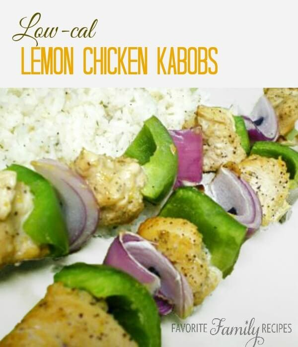 Low Calorie Lemon Chicken Kabobs