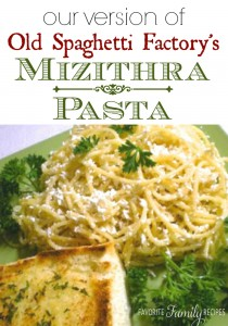 Old Spaghetti Factorys Mizithra Pasta Recipe