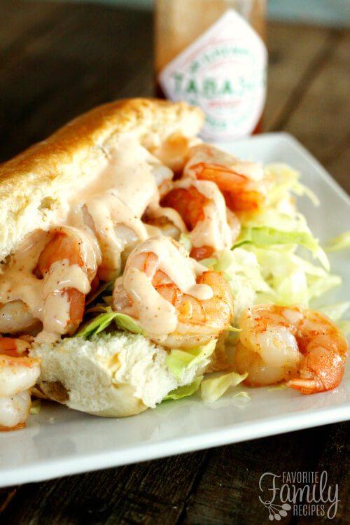 Shrimp Po Boys with Creamy Cajun Sauce Recipe
