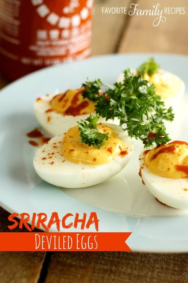 love sriracha on just about anything and these sriracha deviled eggs ...