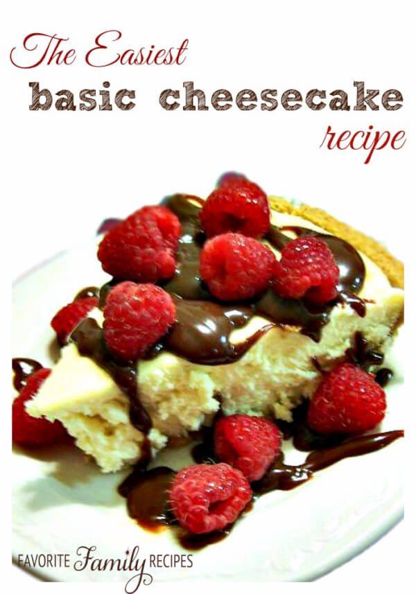The Easiest Basic Cheesecake Recipe