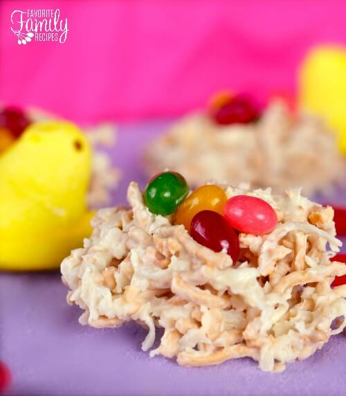 White Chocolate Macademia Nut Nests for Easter