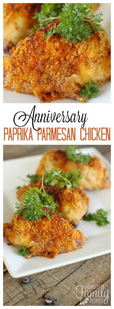Anniversary Paprika Parmesan Chicken Recipe Pin