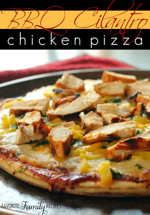 BBQ Cilantro Chicken Pizza