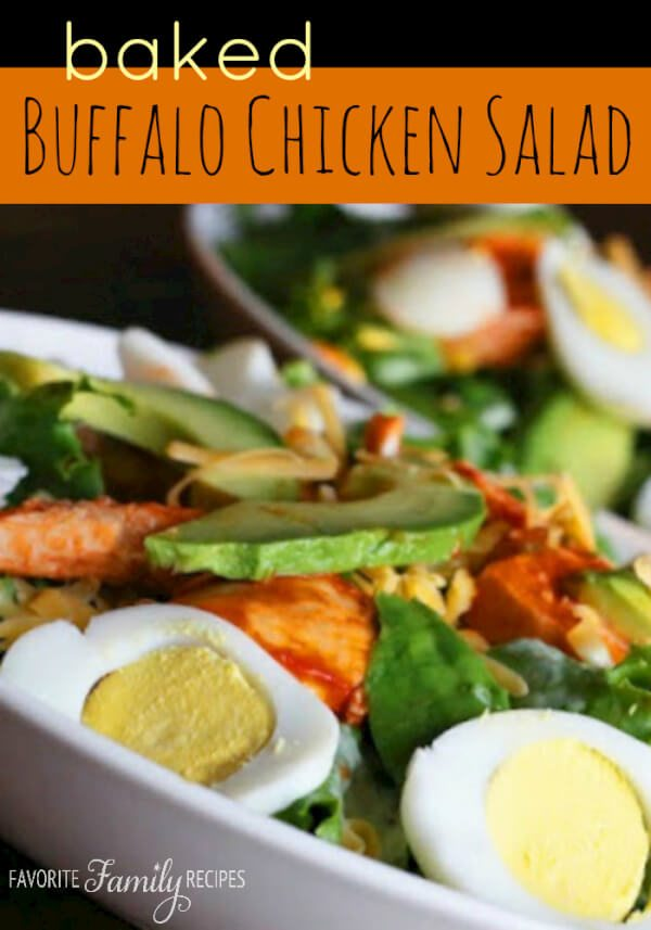 Baked Buffalo Chicken Salad