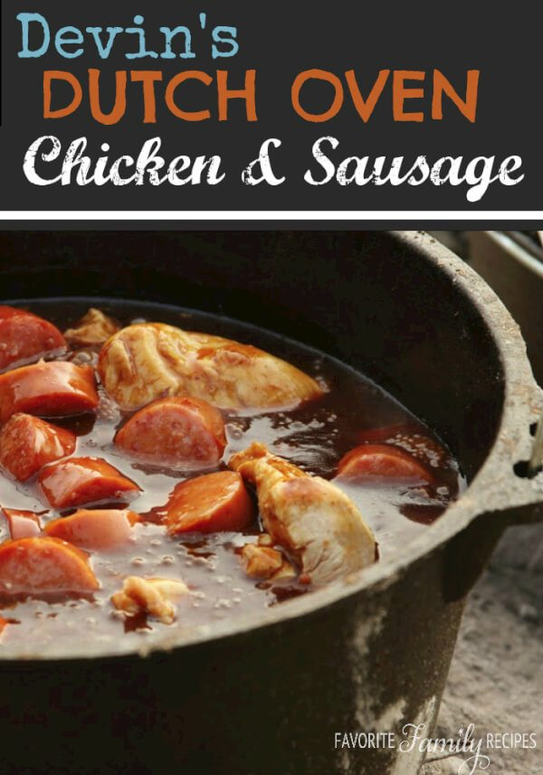 This dutch oven chicken & sausage looks yummy!