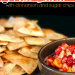 Fruit Salsa with Cinnamon & Sugar Chips