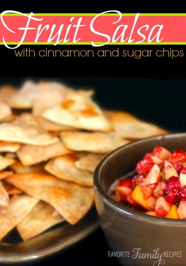 Fruit Salsa with Cinnamon and Sugar Chips