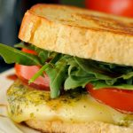 Grown Up Margherita Grilled Cheese Sandwich