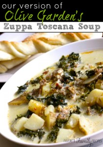 Our Version of Olive Gardens Zuppa Toscana Soup