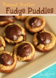 Peanut Butter Fudge Puddles