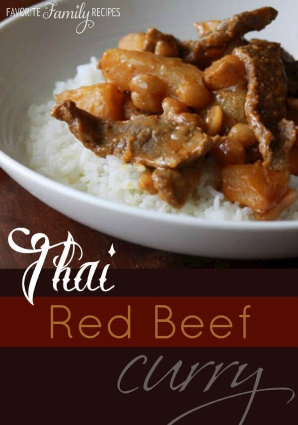 Thai Red Beef Curry -Favorite Family Recipes