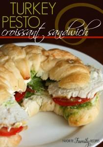 Turkey Pesto Croissant Sandwiches