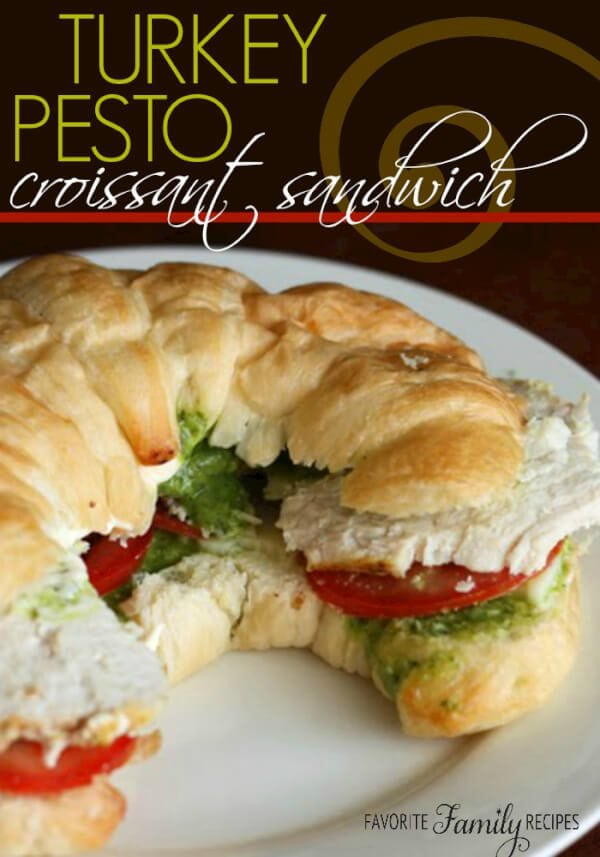 Turkey Pesto Croissant Sandwiches