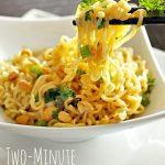 Two Minute Thai Peanut Noodles