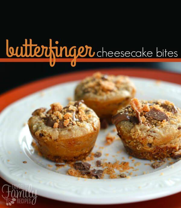 Butterfinger Cheesecake Bites Recipe