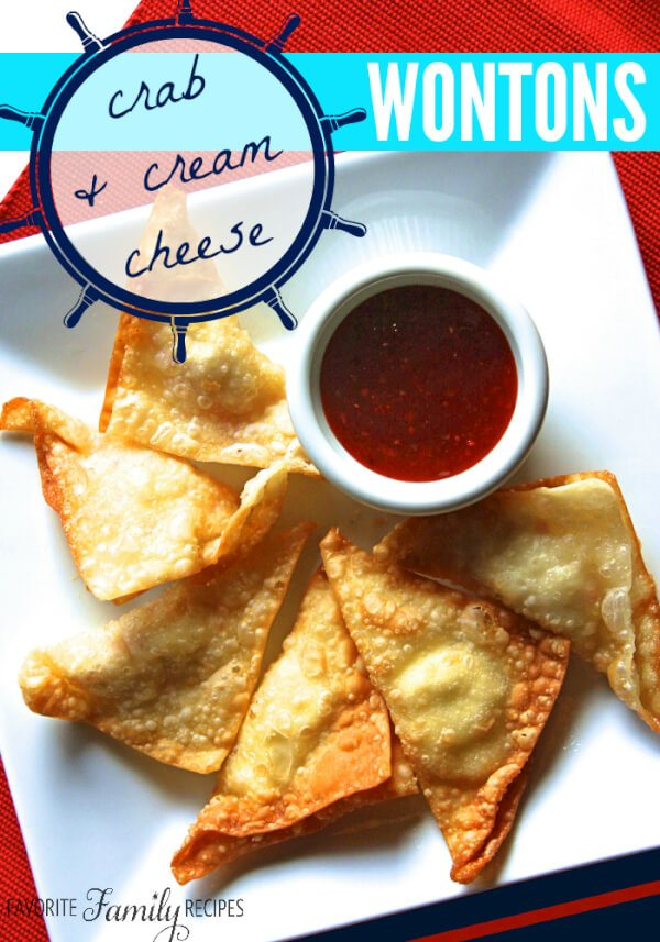 Crab and Cream Cheese Wontons