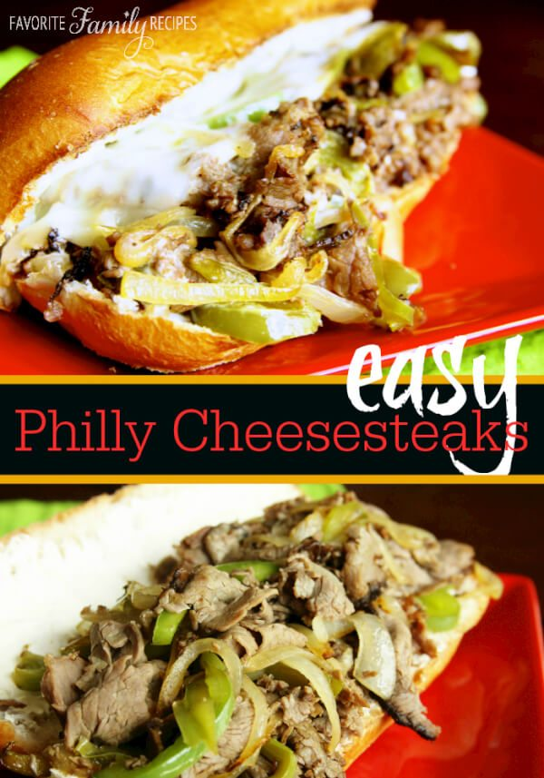 These Easy Philly Cheesesteaks are amazing. Period. They are meaty ...